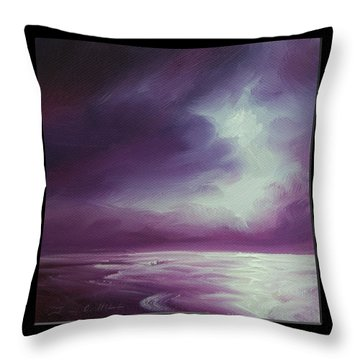 Magenta Moon Iv Throw Pillow by James Christopher Hill
