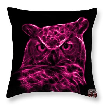 Magenta Owl 4436 - F M Throw Pillow by James Ahn