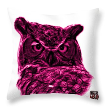 Magenta Owl 4436 - F S M Throw Pillow