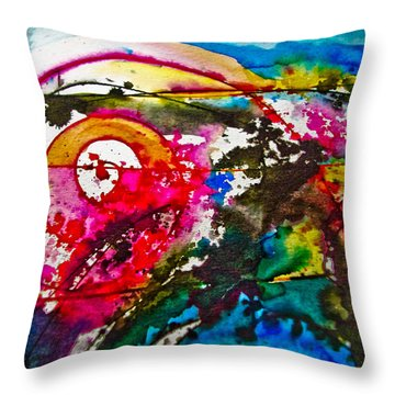 Magenta Spiral Throw Pillow by Adria Trail