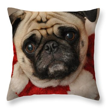 Maggie Girl Throw Pillow