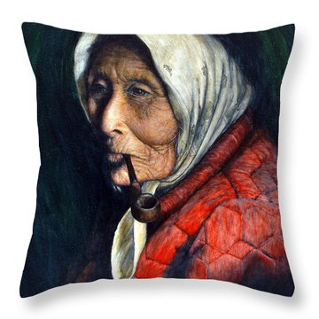 Maggie Throw Pillow by Joey Nash
