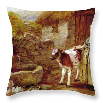 Maggie's Charge Throw Pillow by John H Dell