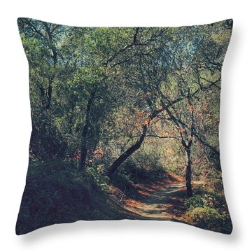 Magic Awaits Us Throw Pillow by Laurie Search