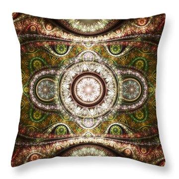 Magic Carpet Throw Pillow by Anastasiya Malakhova