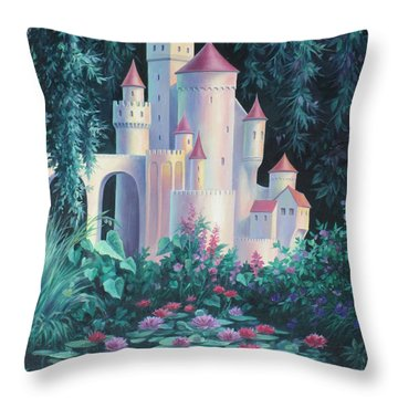 Magic Castle Throw Pillow
