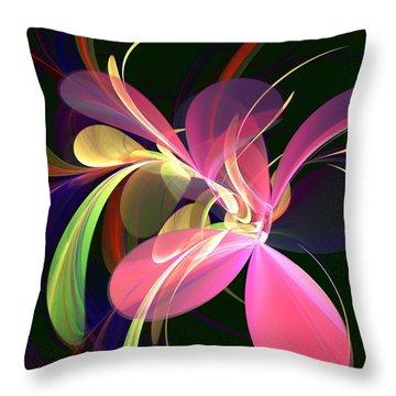 Magic Flower Throw Pillow by Anastasiya Malakhova
