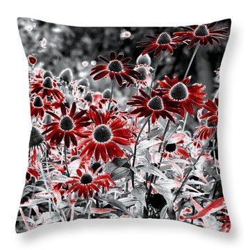 Throw Pillow featuring the digital art Magic Garden by Leo Symon