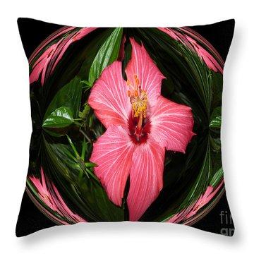 Magic Hibiscus Throw Pillow by Oksana Semenchenko