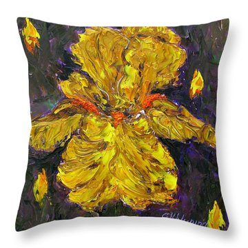 Magic Iris Throw Pillow