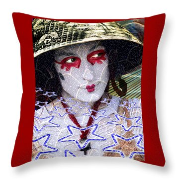 Magic Lady Goddess Throw Pillow by Keith Dillon