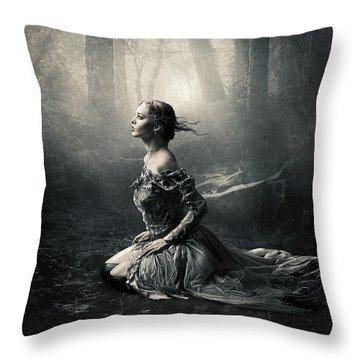 Magic Light Throw Pillow by Cindy Grundsten