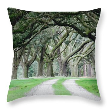 Magic Live Oaks Throw Pillow