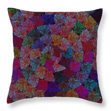 Magic Marbles Marvellous Colorful Pattern Spiral Sparkle Wonderland Kidsroom School Nursary Daycare  Throw Pillow by Navin Joshi