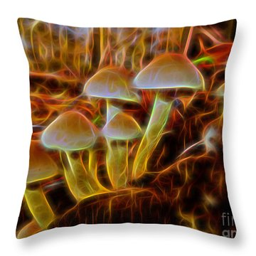 Magic Mushroom-3 Throw Pillow