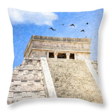 Throw Pillow featuring the photograph Magic Of Chichen Itza by Mark Tisdale
