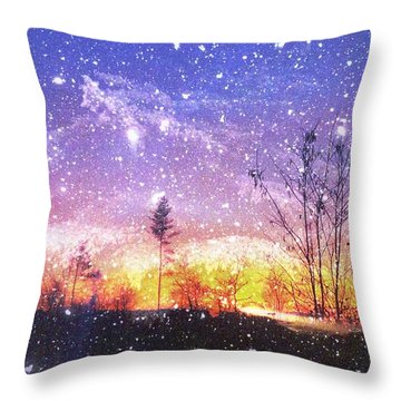 Magic Of Maine Throw Pillow by Mike Breau