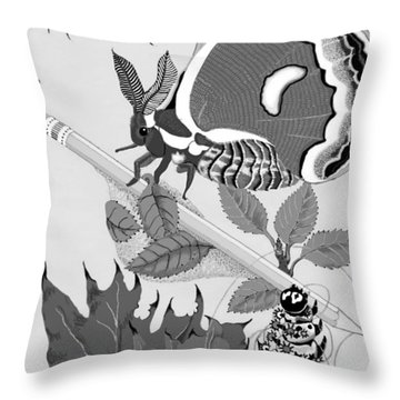 Throw Pillow featuring the digital art Magic Pencil by Carol Jacobs