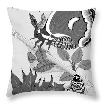 Magic Pencil Throw Pillow by Carol Jacobs