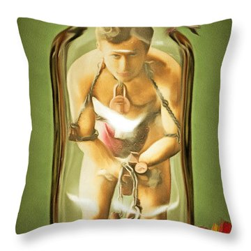 Throw Pillow featuring the photograph Magic Potion Number 9 Patent Pending 20140922 by Wingsdomain Art and Photography