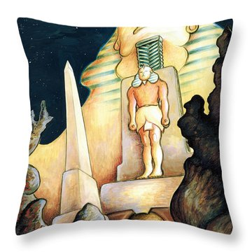 Magic Vegas Sphinx - Fantasy Art Painting Throw Pillow