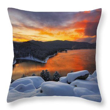 Magic Sunset Throw Pillow by Kadek Susanto