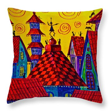 Magic Town 4 Throw Pillow