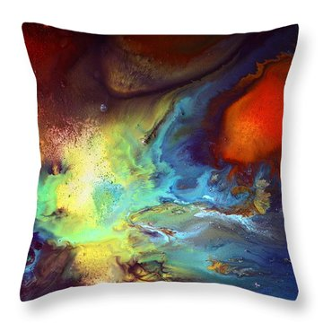 Magic Variety - Contemporary Liquid Abstract Art By Kredart Throw Pillow