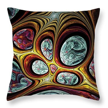 Magic Windows Throw Pillow by Anastasiya Malakhova