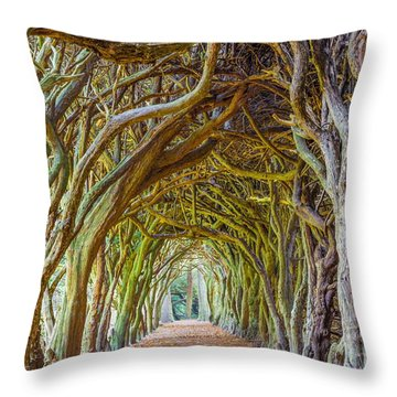 Magic Yew Throw Pillow