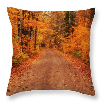 Magical Autumn Mystery Throw Pillow