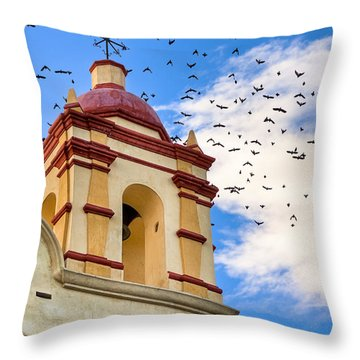 Magical Bell Tower In Mexico Throw Pillow