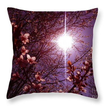 Throw Pillow featuring the photograph Magical Blossoms by Vicki Spindler