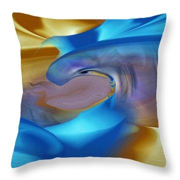 Magical Blue Throw Pillow