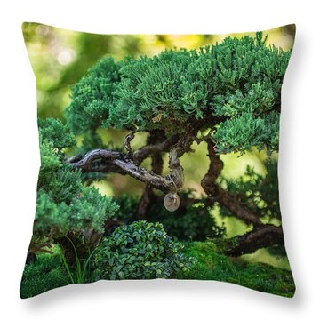 Throw Pillow featuring the photograph Magical Bonsai by Julie Andel