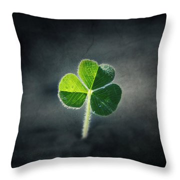 Magical Clover Throw Pillow by Melanie Lankford Photography