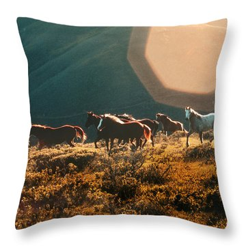 Magical Herd Throw Pillow