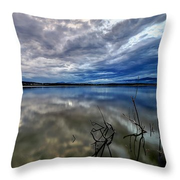 Magical Lake Throw Pillow