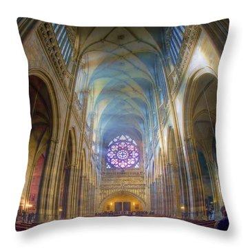 Magical Light Throw Pillow by Joan Carroll