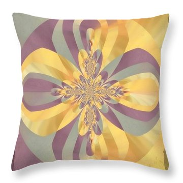 Throw Pillow featuring the digital art Magical Madness By Nico Bielow by Nico Bielow