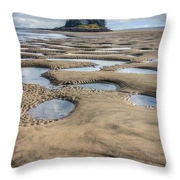 Throw Pillow featuring the photograph Magical Maine by Tammy Wetzel