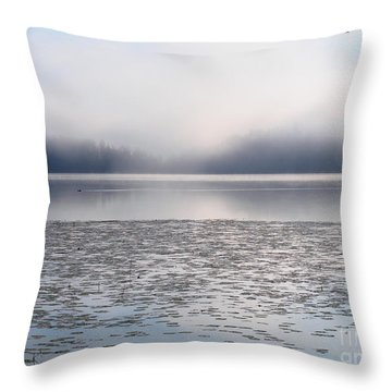 Magical Morning Of Mist Throw Pillow