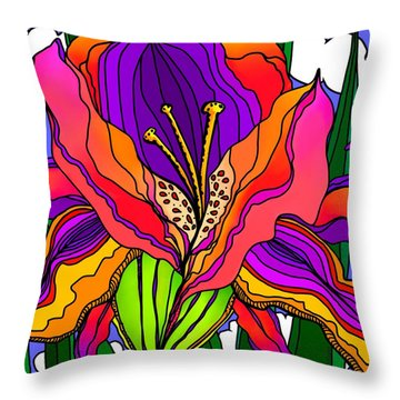Magical Mystery Garden Throw Pillow