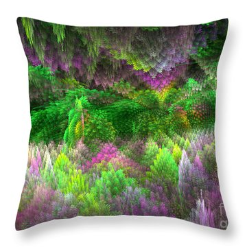 Magical Mystery Woods Throw Pillow