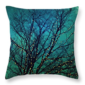 Magical Night Throw Pillow by Sylvia Cook