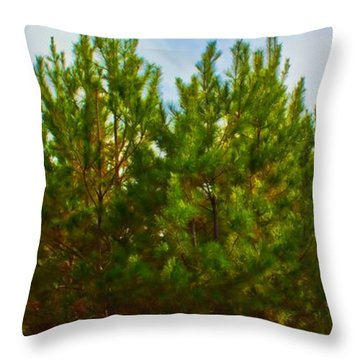 Magical Pines Throw Pillow