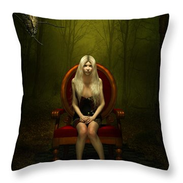 Magical Red Chair Throw Pillow