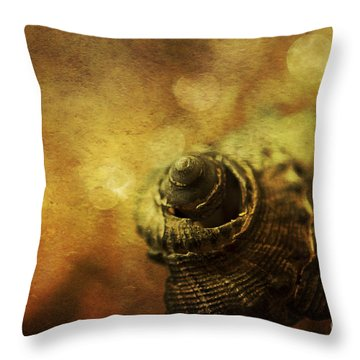 Magical Seashell Throw Pillow