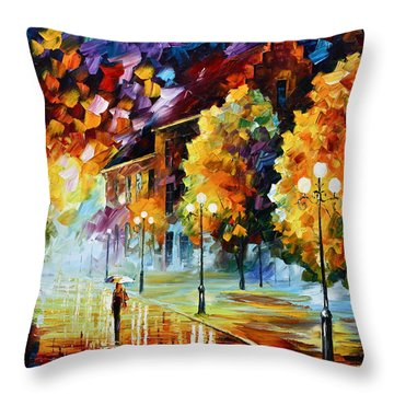 Magical Time Throw Pillow by Leonid Afremov
