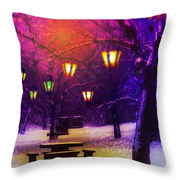 Magical Times Throw Pillow by Kat Besthorn